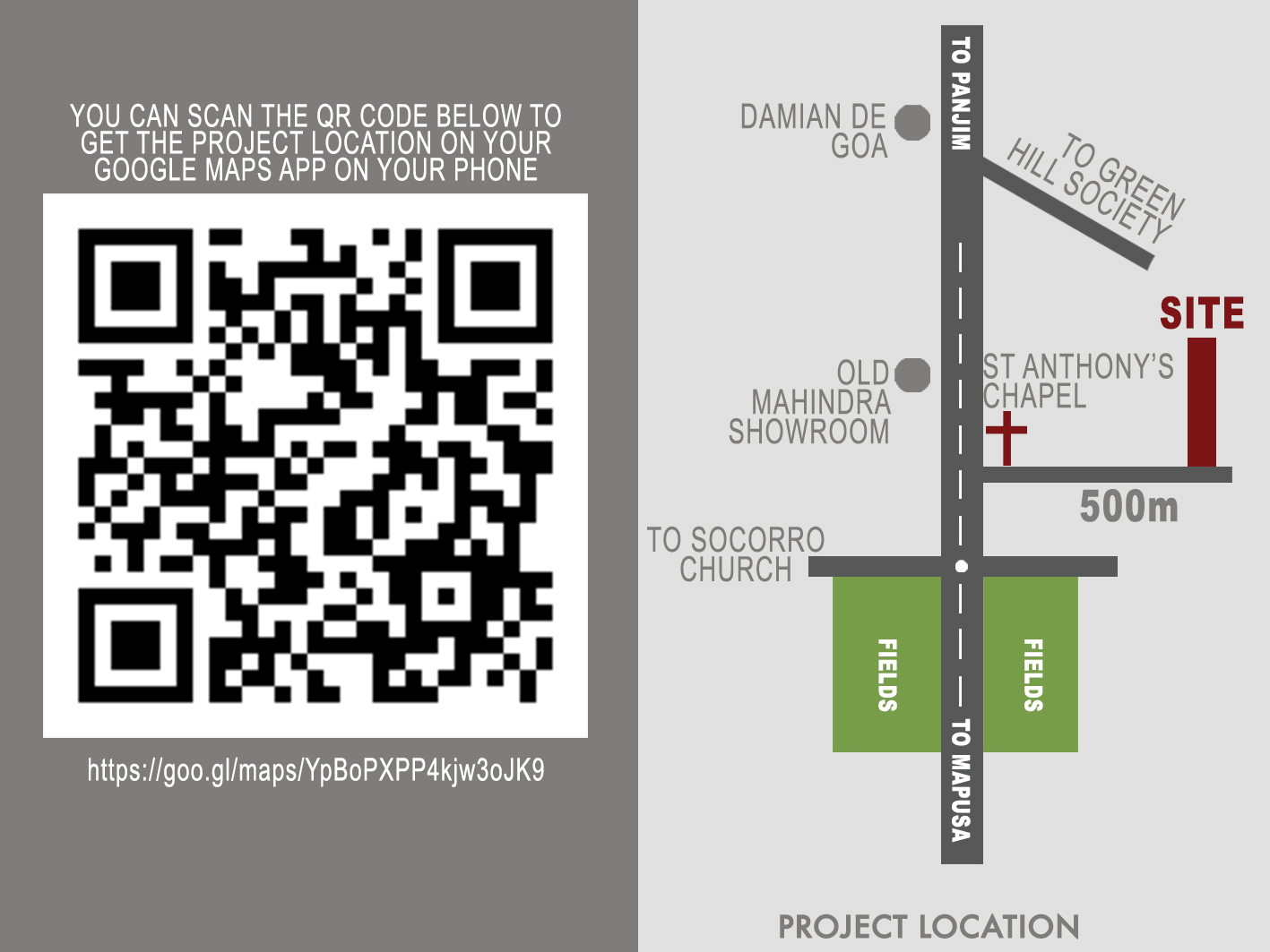 Location of Affordable 1bhk and 2bhk homes in socorro